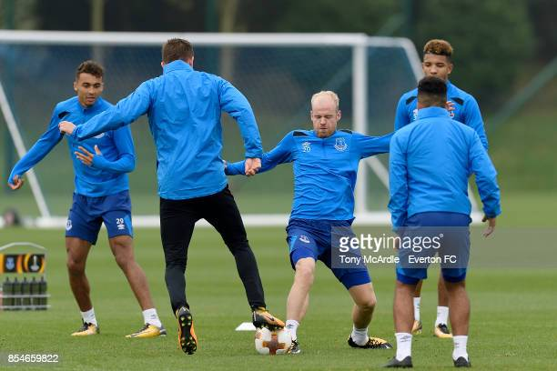 Davy Klaassen during the Everton training session at USM Finch Farm on September 27 2017 in Halewood England