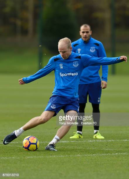 Davy Klaassen during the Everton Training session at USM Finch Farm on November 17 2017 in Halewood England