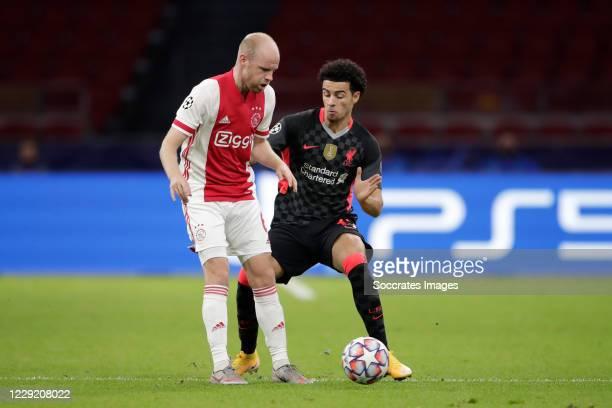 Davy Klaassen of Ajax Curtis Jones of Liverpool during the UEFA Champions League match between Ajax v Liverpool at the Johan Cruijff Arena on October...