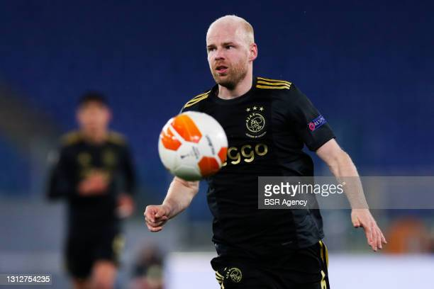 Davy Klaassen of Ajax during the UEFA Europa League Quarter Final: Leg Two match between AS Roma and Ajax at Stadio Olimpico on April 15, 2021 in...