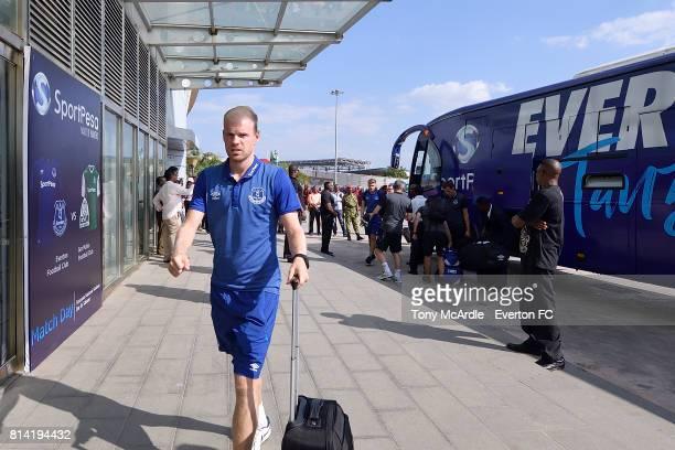 Davy Klaassen of Everton arrives for the preseason match between Everton and Gor Mahia in DarEsSalaam on July 12 2017 in Tanzania