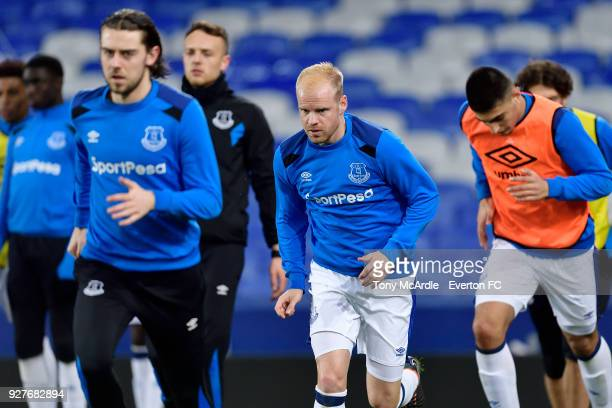 Davy Klaassen of Everton before the Premier League 2 match between Everton U23 and Swansea City U23 at Goodison Park on March 5 2018 in Liverpool...