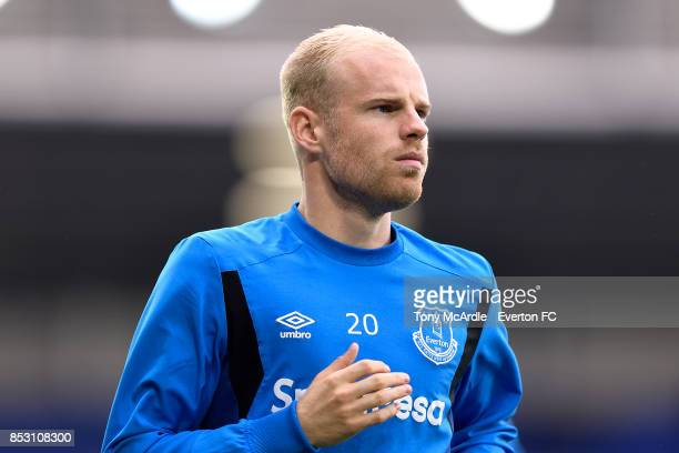 Davy Klaassen of Everton before the Premier League match between Everton and AFC Bournemouth at Goodison Park on September 23 2017 in Liverpool...