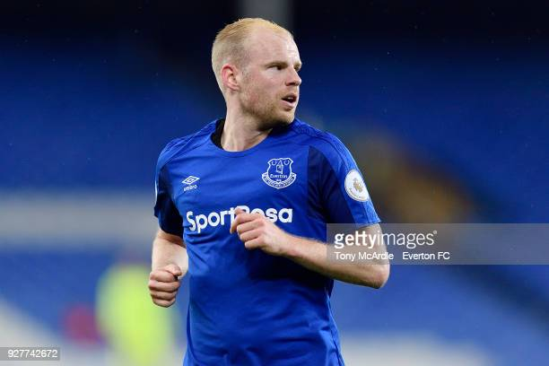 Davy Klaassen of Everton during the Premier League 2 match between Everton U23 and Swansea City U23 at Goodison Park on March 5 2018 in Liverpool...