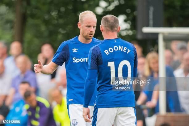 Davy Klaassen of Everton FC Wayne Rooney of Everton FC during the friendly match between FC Twente and Everton FC at sportpark De Stockakker on July...