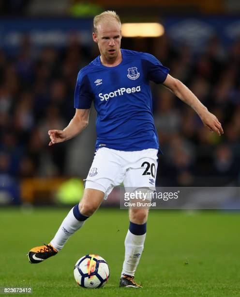 Davy Klaassen of Everton in action during the UEFA Europa League Third Qualifying Round First Leg match between Everton and MFK Ruzomberok at...