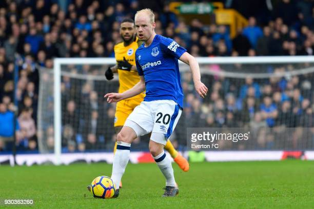 Davy Klaassen of Everton on the ball during the Premier League match between Everton and Brighton and Hove Albion at Goodison Park on March 10 2018...
