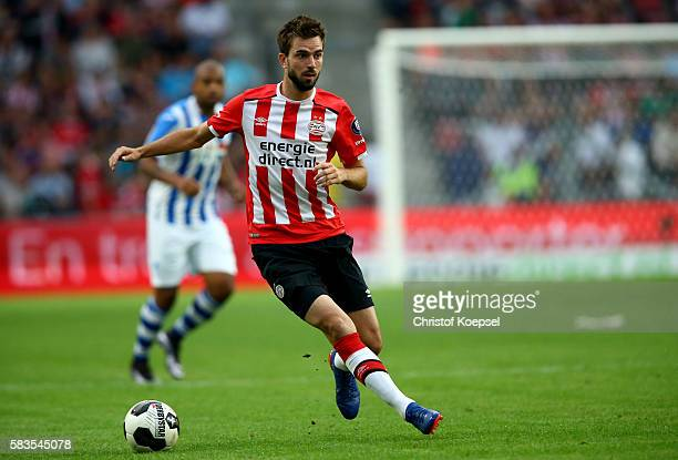 Davy Proepper of Eindhoven runs with the ball during the friendly match between FC Eindhoven and PSV Eindhoven at Philips Stadium on July 26 2016 in...