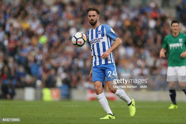 Davy Propper of Brighton and Hove Albion during the Premier League match between Brighton and Hove Albion and West Bromwich Albion at Amex Stadium on...
