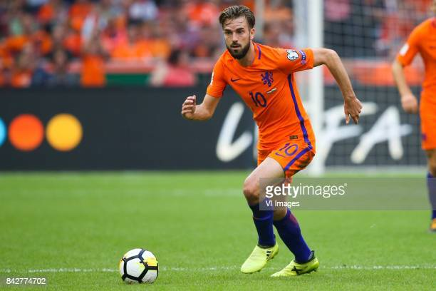 Davy Propper of Holland during the FIFA World Cup 2018 qualifying match between The Netherlands and Bulgariaat the Amsterdam Arena on September 03...