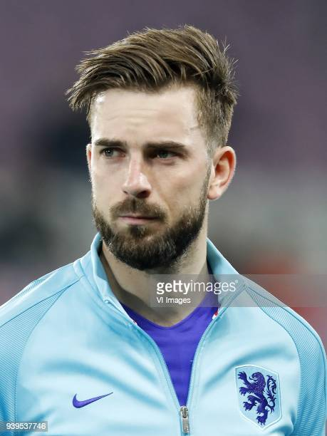 Davy Propper of Holland during the International friendly match match between Portugal and The Netherlands at Stade de Genève on March 26 2018 in...