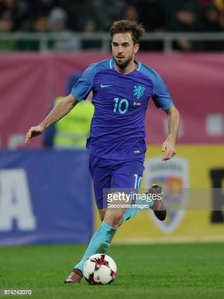 Davy Propper of Holland during the International Friendly match between Romania v Holland at the Arena Nationala on November 14 2017 in Bucharest...
