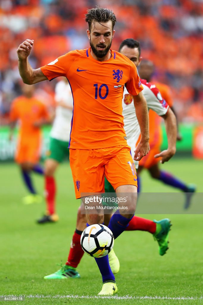 Davy Propper of the Netherlands in action during the FIFA 2018 World Cup Qualifier between the Netherlands and Bulgaria held at The Amsterdam ArenA on September 3, 2017 in Amsterdam, Netherlands.