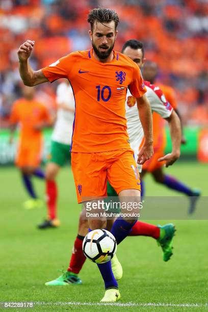 Davy Propper of the Netherlands in action during the FIFA 2018 World Cup Qualifier between the Netherlands and Bulgaria held at The Amsterdam ArenA...
