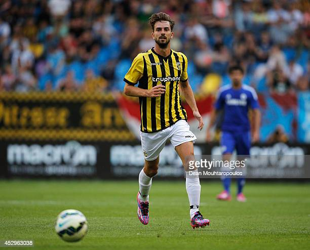 Davy Propper of Vitesse in action during the pre season friendly match between Vitesse Arnhem and Chelsea at the Gelredome Stadium on July 30 2014 in...