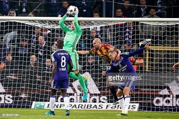 Davy Roef goalkeeper of RSC Anderlecht pictured during the Jupiler Pro League match between RSC Anderlecht and KV Mechelen on in Brussels Belgium