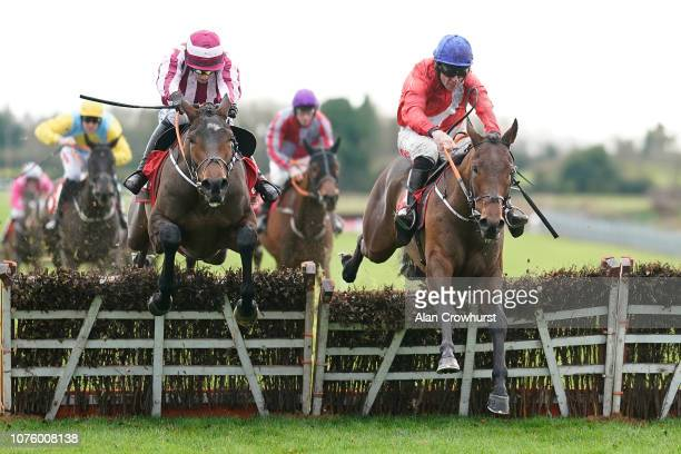 Davy Russell riding Chief Justice clear the last to win The 30 Free Bet baroneracingcom Juvenile Hurdle at Fairyhouse Racecourse on December 02 2018...