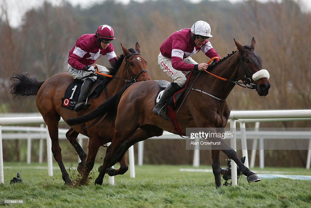 Davy Russell riding Prince Of Scars clear the last to win The Squared Financial Christmas Hurdle at Leopardstown racecourse on December 28, 2015 in Dublin, Ireland.