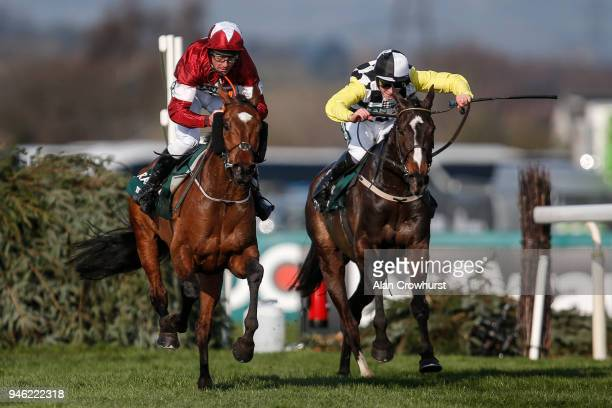 Davy Russell riding Tiger Roll clear the last to win The Randox Health Grand National Handicap Steeple Chase from Pleasant Company and David Mullins...