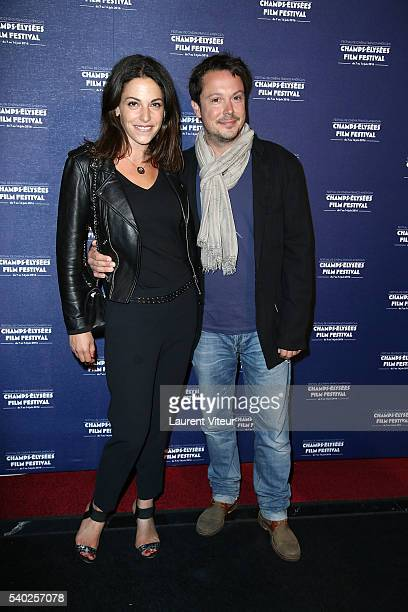 Davy Sardou and his wife Noemie Elbaz attend the Closing Ceremony of 5th Champs Elysees Film Festival on June 14 2016 in Paris France