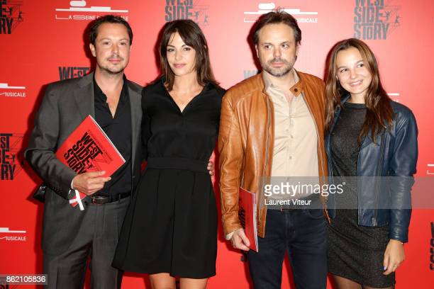 Davy Sardou his wife Noemie Elbaz and guests attend 'West Side Story' at La Seine Musicale on October 16 2017 in BoulogneBillancourt France