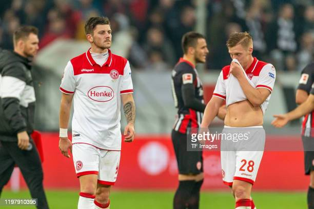 Dawid Kownacki of Fortuna Duesseldorf and Rouwen Hennings of Fortuna Duesseldorf looks dejected during the Bundesliga match between Fortuna...