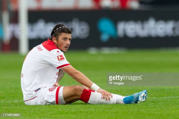 Dawid Kownacki of Fortuna Duesseldorf looks on during the Bundesliga match between Fortuna Duesseldorf and Sport-Club Freiburg at Merkur Spiel-Arena...