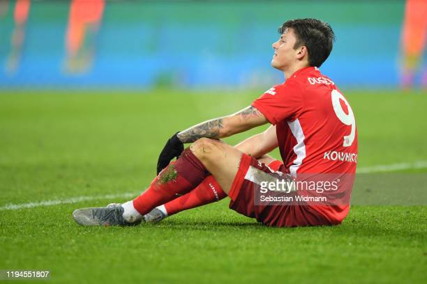 Dawid Kownacki of Fortuna Duesseldorf looks on during the Bundesliga match between FC Augsburg and Fortuna Duesseldorf at WWK-Arena on December 17,...