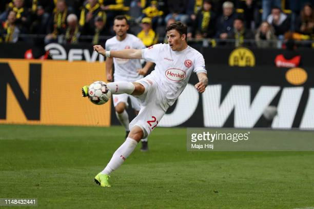 Dawid Kownacki of Fortuna Duesseldorf scores his team's second goal during the Bundesliga match between Borussia Dortmund and Fortuna Duesseldorf at...