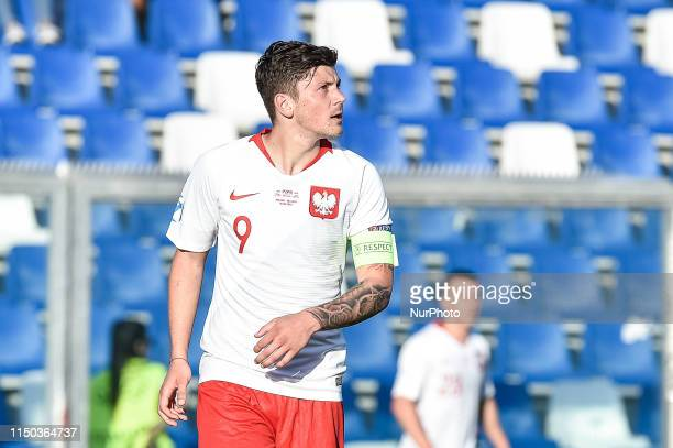 Dawid Kownacki of Poland during the UEFA European Under-21 Championship match between Poland U-21 v Belgium U-21 at Stadio Citt del Tricolore, Reggio...