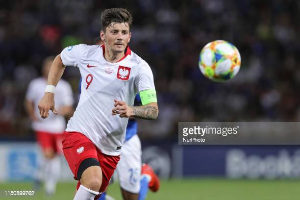 Dawid Kownacki of Poland U21 during the UEFA UNDER21 Championship match between Italy and Poland at Renato Dall'Ara on June 19, 2019 in Bologna,...