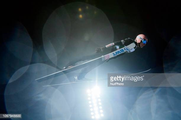 Dawid Kubacki competes in the FIS Ski Jumping World Cup Large Hill Individual Competition at the Lahti Ski Games in Lahti, Finland on 10 February...