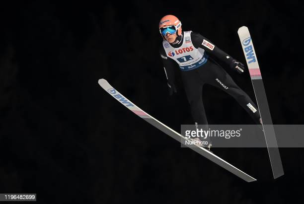 Dawid Kubacki during team competition of the FIS Ski jumping World Cup in Zakopane on January 25 2020 in Zakopane Poland