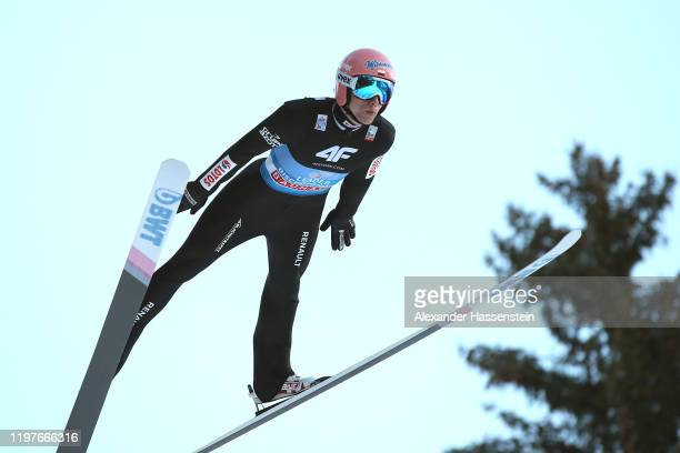 Dawid Kubacki of Poland competes during a training session for the 68th FIS Nordic World Cup Four Hills Tournament at Paul-Ausserleitner-Schanze on...