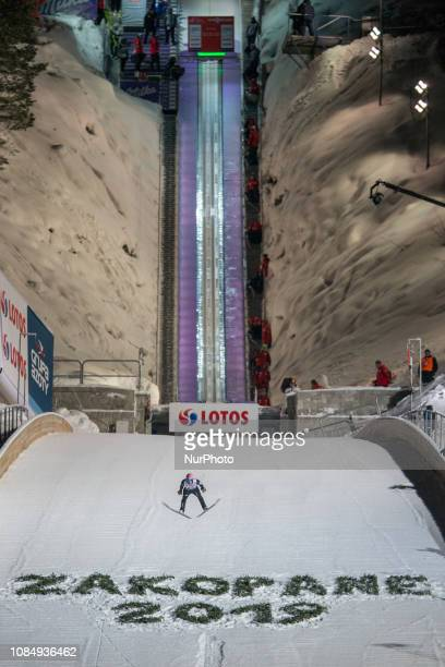 Dawid Kubacki of Poland competes during qualification round on January 18 2019 in Zakopane Poland