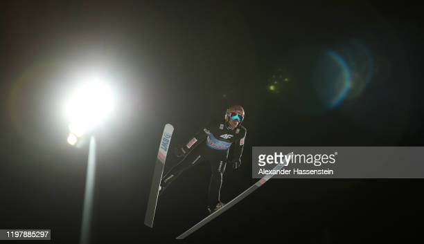 Dawid Kubacki of Poland competes during the first round during the 68th FIS Nordic World Cup Four Hills Tournament at Paul-Ausserleitner-Schanze on...