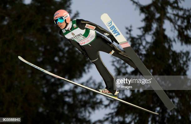Dawid Kubacki of Poland competes during the FIS Ski Jumping World Cup on December 09 2017 in TitiseeNeustadt Germany