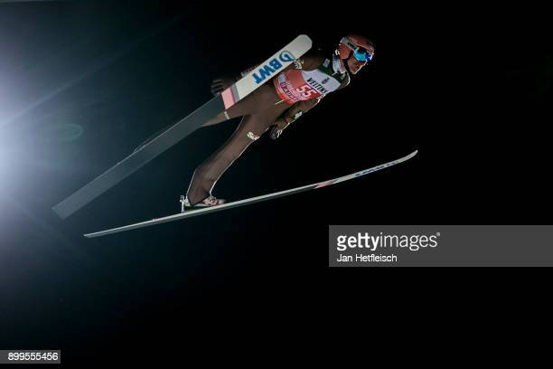 Dawid Kubacki of Poland competes during the qualification round for the Four Hills Tournament on December 29 2017 in Oberstdorf Germany