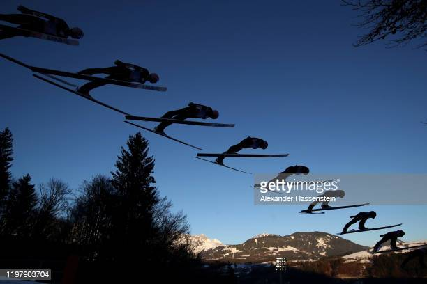Dawid Kubacki of Poland competes in the training round during the 68th FIS Nordic World Cup Four Hills Tournament at PaulAusserleitnerSchanze on...