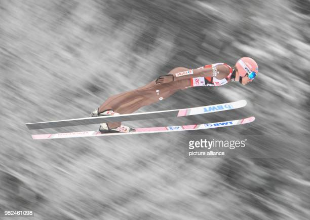 Dawid Kubacki of Poland in action during his first competition jump at the Ski Jumping World Cup in Willingen Germany 4 February 2018 Photo Arne...