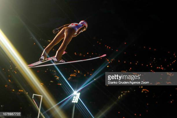 Dawid Kubacki of Poland in action during the FIS Nordic World Cup Four Hills Tournament on December 30 2018 in Oberstdorf Germany
