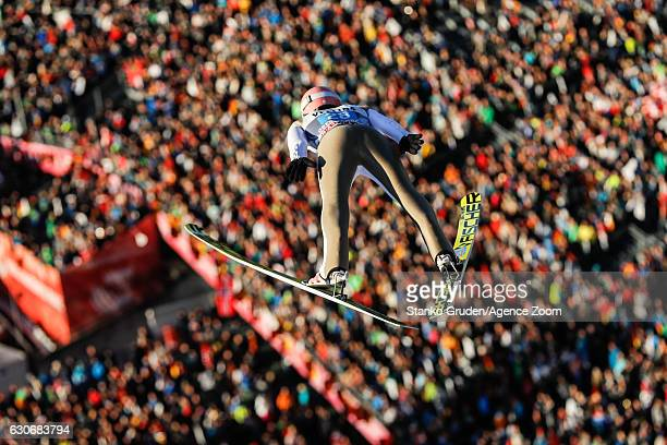 Dawid Kubacki of Poland in action during the FIS Nordic World Cup Four Hills Tournament on December 30 2016 in Oberstdorf Germany