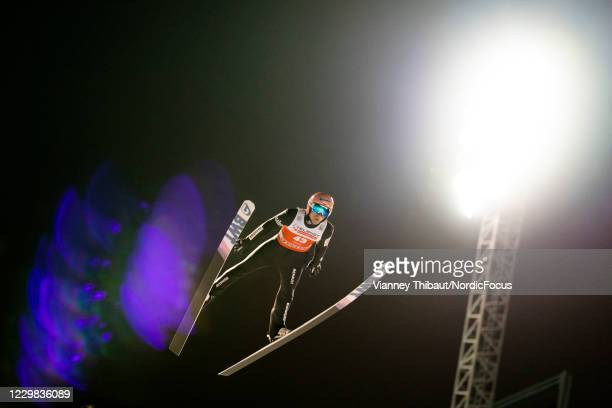 Dawid Kubacki of Poland takes third place during the FIS Ski Jumping World Cup at the FIS Ski Jumping World Cup Ruka at on November 28, 2020 in Ruka,...