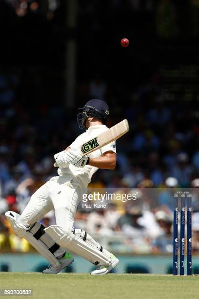 Dawid Malan of England avoids a high delivery from Mitchell Starc of Australia during day two of the Third Test match during the 2017/18 Ashes Series...