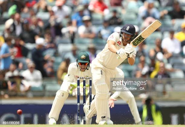 Dawid Malan of England bats during day five of the Third Test match during the 2017/18 Ashes Series between Australia and England at the WACA on...