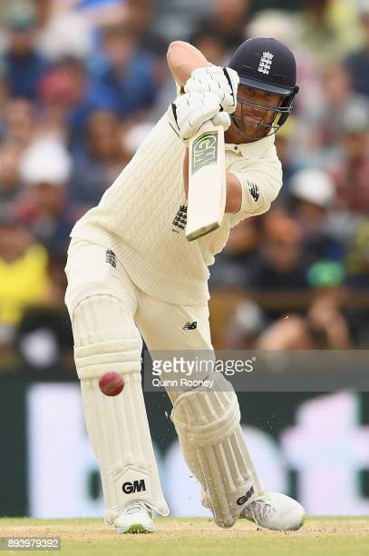 Dawid Malan of England bats during day four of the Third Test match during the 2017/18 Ashes Series between Australia and England at WACA on December...