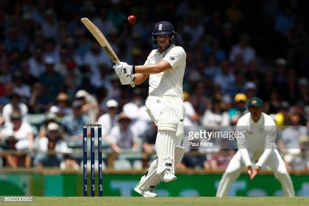Dawid Malan of England bats during day two of the Third Test match during the 2017/18 Ashes Series between Australia and England at WACA on December...