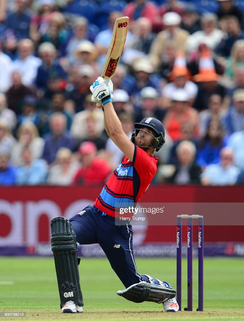Dawid Malan of England bats during the 3rd NatWest T20 International between England and South Africa at the SWALEC Stadium on June 25, 2017 in Cardiff, Wales.