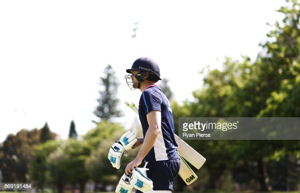 Dawid Malan of England prepares to bat during an England nets session at Richardson Park on November 2 2017 in Perth Australia
