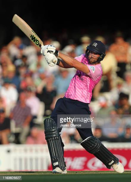 Dawid Malan of Middlesex bats during the Vitality Blast match between Surrey and Middlesex at The Kia Oval on July 23 2019 in London England